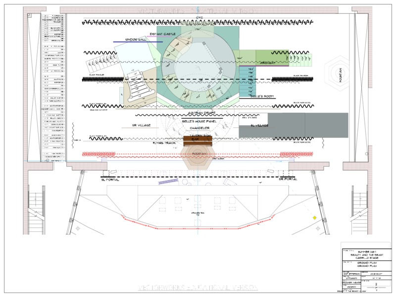 Beauty and the Beast Ground plan