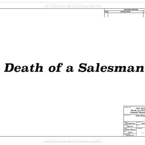 Death of a salesman CAD drawings set design