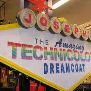 joseph and the amazing technicolor dreamcoat production build photos