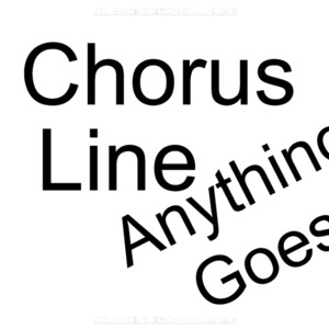 Anything Goes and A Chorus Line drawings
