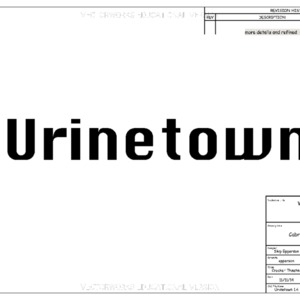 Urinetown CAD drawings